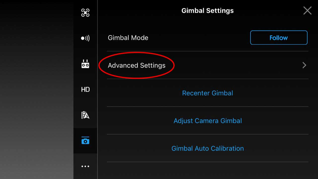 Advance Setting Gimbal